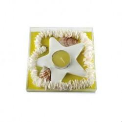 Neu !! Keramikhalterung für Kerzen mit Dekoration