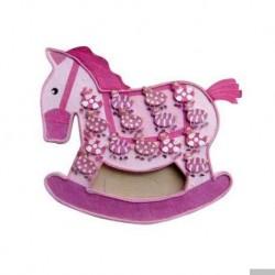Aussteller rosa Pferdeboxen + 15 Zebras