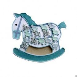 Aussteller blau Pferdeboxen + 15 Zebras