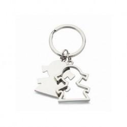 Shaped Schlüsselring Mädchen. Präsentiert in Geschenkbox