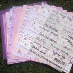 Set von 25 Papieren Scrapbooking