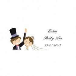 Lot 68 Aufkleber Hochzeit 2240