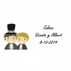 Lot 68 Aufkleber Hochzeit 2244