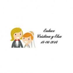 Lot 68 Aufkleber Hochzeit 2243