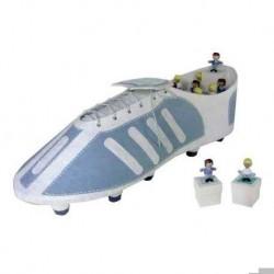 Aussteller-Boot-Footballer + 12 Boxen Fußballer