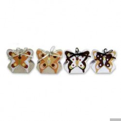 Satz von 12 Kästen Herbst Schmetterlinge