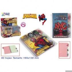 Spiderman Notizblock mit 60 Blatt