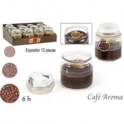 Kaffee Glas Kerze