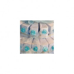 September 45 Blaue Kegel Dekoriert Boxen (nur Kasten)