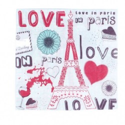 "Lot 20 Servietten ""Love in Paris"""