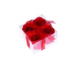 4 Blumen Seife in der Schachtel mit Krawatte präsentiert