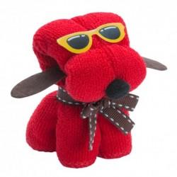 Simpatico Welpen mit Brille und Krawatte Handtuch